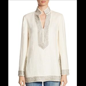 New TORY BURCH Crystal Embellished Tory Tunic 6